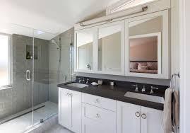 Mirrored Subway Tile Backsplash Bathroom Transitional With by Beavercreek Ohio United States Gray Subway Tile Kitchen Powder
