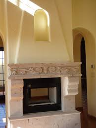 Cantera Stone Fireplaces by Custom Features Villa Custom Homes