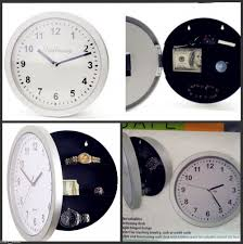 buy wall clock with hidden safe mystery home decor clock