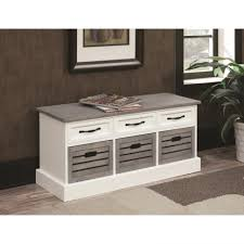 White Wood Storage Bench Bedroom Furniture Sets Extra Long Storage Bench Storage Ottoman