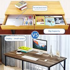 Dual Desk Home Office Amazon Com Tribesigns Computer Desk Modern Stylish 47