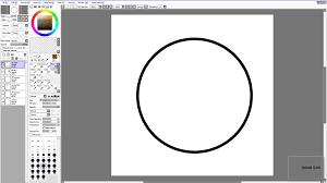 sai beginner tutorial pen tool vector circles and hair
