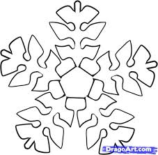 how to draw an easy snowflake step by step christmas stuff