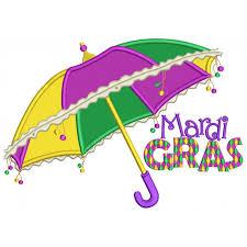 mardi gras umbrella gras umbrella applique machine embroidery design digitized pattern