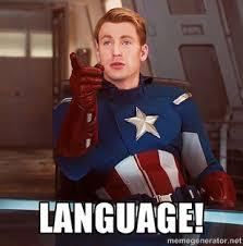 Language Meme - captain america language blank template imgflip