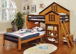 Bunk Bed Castle Pines Oak Finish Bunk Bed