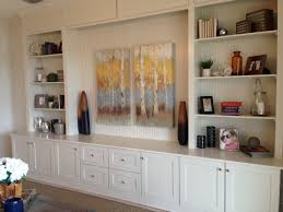 Living Room Cabinets Built In by Diy Living Room Built In Entertainment Center Made From Kitchen