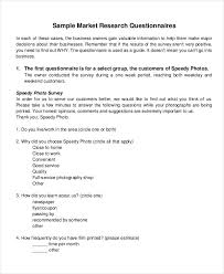 Resume Questionnaire Template Questionnaire Sample Questionnaires On Brandingbrand Preference