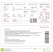 boarding pass stock vector image 57711199