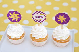 custom cupcake toppers rapunzel party custom cupcake toppers stickers printable pdf