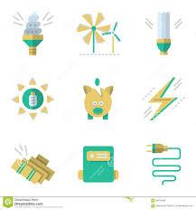 energy saving house flat stock vector image 52590547