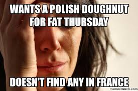 Doughnut Meme - a polish doughnut for fat thursday