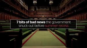 seven bits of bad news the government snuck out before