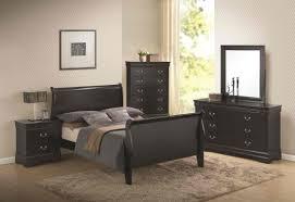 coaster bedroom set coaster louis philippe sleigh panel bedroom set in black 201071