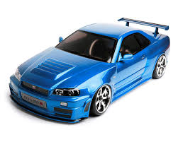 nissan gtr model car mst fxx d 1 10 scale 2wd brushless rtr drift car w nissan r34 gt r