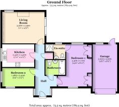 define floor plan bed detached bungalow for sale in bron y waun rhiwlas bangor floor
