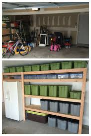12 best work room images on pinterest garage organization open shelving in a garage is a great storage solution for big tubs filled with your