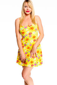 yellow floral spaghetti strap casual dress cute casual dresses