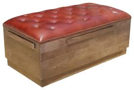 modern solid wood u0026 leather backless sofa upholstered benches