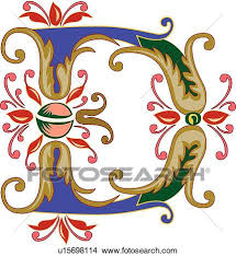 clipart of vincente letter d u15698114 search clip art