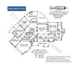 cottage floorplans amicalola cottage house plan house plans by garrell associates inc