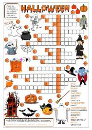 Halloween Activity Sheets And Printables Halloween Crossword U2026 Pinteres U2026