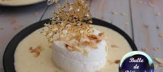 cours de cuisine jean francois piege ile flottante inversée blanc manger de jean françois piège