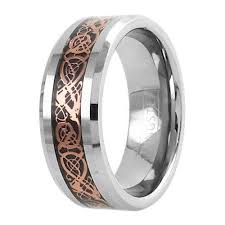 tungsten rings from images Silver tungsten ring rose gold celtic dragon wholesale 925express jpg