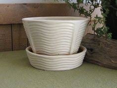 white mccoy econo line planter vintage planters and pots mid