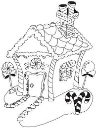 printable christmas coloring pages kids colouring gingerbread