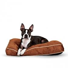 pillow top dog bed tufted pillow top bed overstuffed dog bed k h pet products