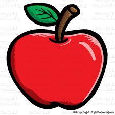 Apple Cartoon | cartoon apple clip art stock illustration coghill cartooning