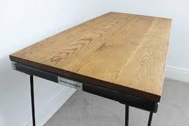 industrial hairpin leg desk vintage industrial style oak desk table with hairpin legs uk