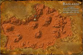 map quests badlands map with locations npcs and quests of warcraft