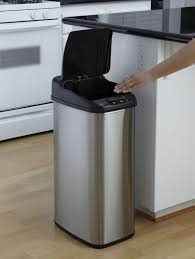 kitchen trash bin cabinet tips upgrade your current trash can with modern touchless trash