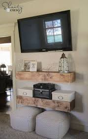 wall shelves design floating shelves under wall mounted tv