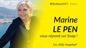 Marine Le Pen Marine Le Pen Presidential Elections 2017 Snapchat Faq Youtube