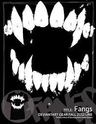 Vampire Teeth Vampire Teeth Black And White Poster