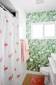 Temporary Shower Curtain Yay I Installed Peel And Stick Temporary Wallpaper In My Bathroom