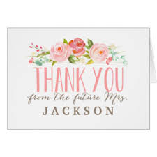 bridal shower thank you notes bridal shower thank you cards greeting photo cards zazzle