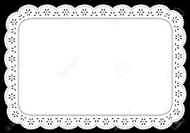 placemat white eyelet lace doily for setting table cake