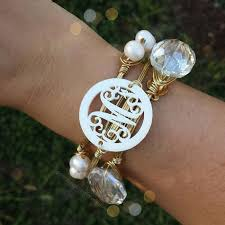 monogrammed bracelets 15 best monograms images on monogram jewelry