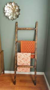Pottery Barn Ladder Shelf Diy Blanket Throw Ladder Pottery Barn Inspired U2014 That Gumbo Life