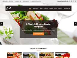 templates for website design restaurant website design templates