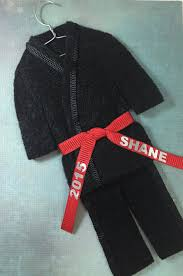 christmas ornament martial artist choose your belt color karate