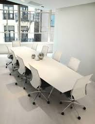 Modern Boardroom Tables White Glass Boardroom Table Ambience Doré