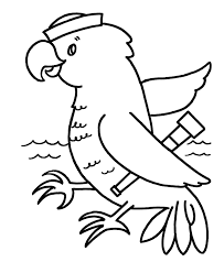simple shapes coloring pages parrot sailor bird coloring pages