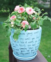 personalized flower pot personalized flower pot write your favorite quote or poem around