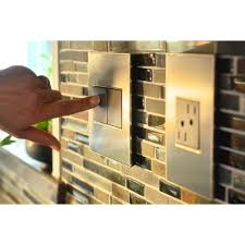 Legrand Under Cabinet Lighting System by Legrand Adorne Brushed Stainless 1 Gang Switch Plate Awm1g2ms4
