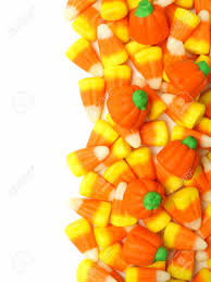 pumpkin candy corn candy border white with candy corn and pumpkins